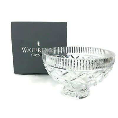 Waterford Ireland Killeen Footed Bowl Crystal Cut Glass Signed Original Box 6""