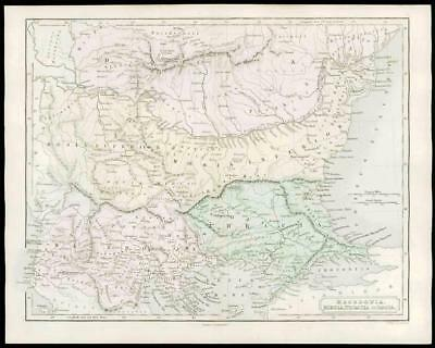 1864 - Original Antique Map of MACEDONIA Thrace by Samuel Butler  (08)