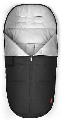 Diono FOOTMUFF ALL WEATHER FOOTMUFF LUXE - BLACK PLATINUM Buggy Accessory - NEW