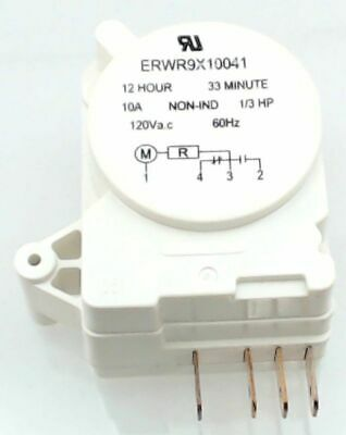 WR09X10041, Refrigerator Defrost Timer replaces GE, Hotpoint