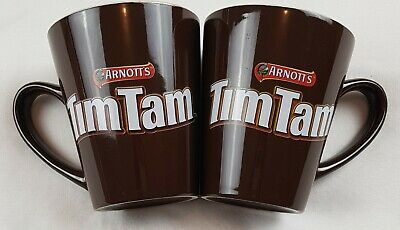 ARNOTTS Tim Tam Coffee Mug Cup - Set of 2 - Pre owned - Collectable