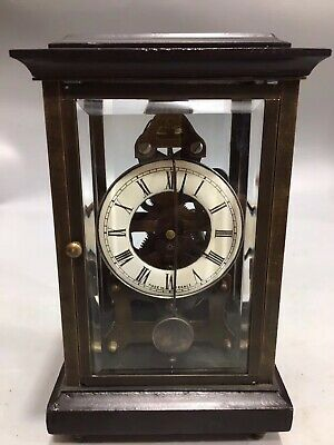 Chinese Old copper Mechanical clock table Home decoration