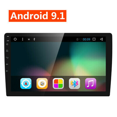 10 Inch Android 9.1 2G RAM 2DIN Car Stereo Quad Core Touch Radio WIFI GPS Nav