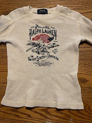 Polo, Ralph Lauren Toddler Boys Size 3T Thermal Knit Long Sleeve Shirt
