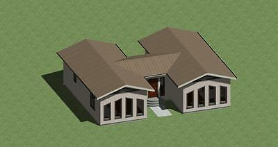 H-Style House Plans 1300 Sq.ft. With Free Energy Saving Checklist