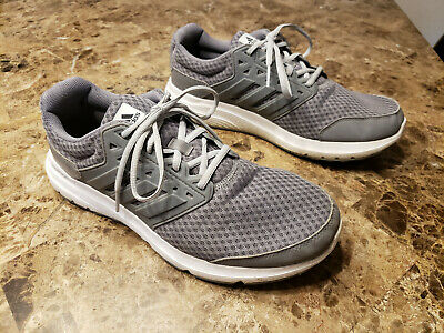 Adidas Galaxy Mens Size 10M Running Shoes Sneakers Gray White Cloudfoam
