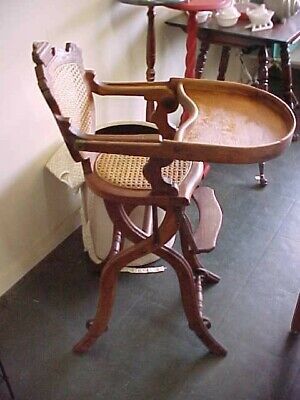 Victorian Eastlake Style Antique High Chair, Stroller