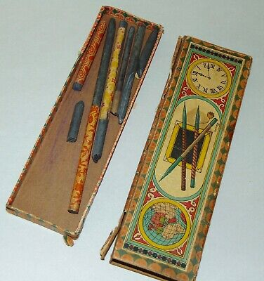 ANTIQUE Child's PENCIL BOX Germany WRITING IMPLEMENTS