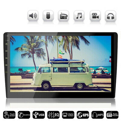 10 Inch Android 9.1 2DIN Car Stereo Quad Core Touch Radio WIFI GPS Nav Video MP5
