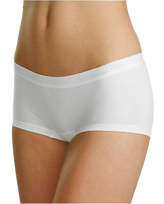 Womens Seamless Hipster Shorts Double Comfort Cotton Knicker Briefs, 3 Colours
