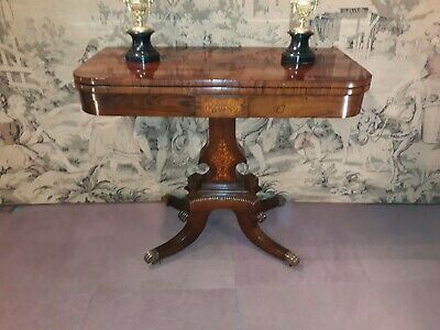 Fine Regency period Rosewood card table c 1810.