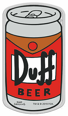2019 Tuvalu Simpsons Duff Beer 1 oz Proof Silver Colorized $1 Coin OGP SKU58748