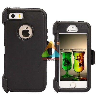 For Apple iPhone 5 5S SE Case (Clip fits Otterbox Defender) Screen Protector Z01