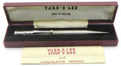 Vintage Solid Silver Yard O Led Propelling Pencil, London 1955, Boxed.