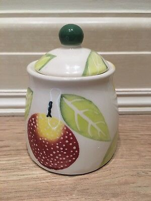 RAYWARE Lidded Storage Jar Pot COUNTRY KITCHEN Jam Sugar Ceramic Pottery England
