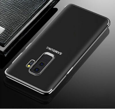 Samsung Galaxy S8 S9 Luxury Ultra Slim Shockproof Silicone Clear Case Cover