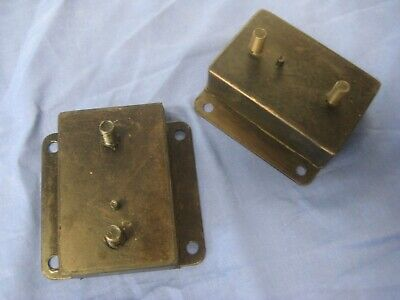 MG PAIR MGB ROADSTER OR GT 1974 on RUBBER BUMPER ENGINE MOUNTS PAIR Round  bcs8