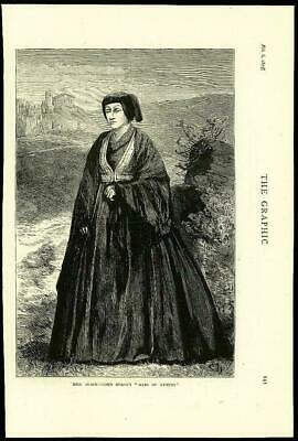 1875 Antique Print Fine Art - Mrs Black Maid Athens Lord Byron  (68)