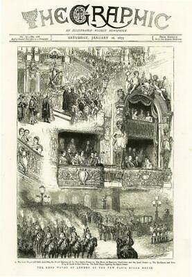 1875 Antique Print - FRANCE Paris Opera House Lord Mayor London  Boxes (98)
