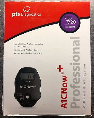 A1C Home Test Kit Glycated Hemoglobin Multi Test 20 Strips Blood Glucose Control