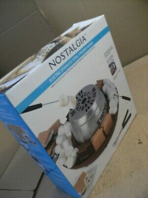 Nostalgia LSM400 Electric Stainless Steel S'mores Maker+