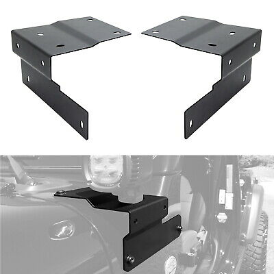 LED Pods Auxiliary Driving Lamp A-Pillar Mounting Brackets For 18+ Jeep Wrangler