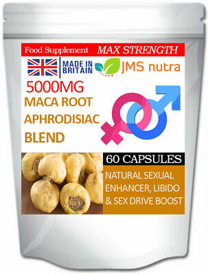 Maca Root Aphrodisiac Blend 5000mg Sex Aid Stamina Libido Pills