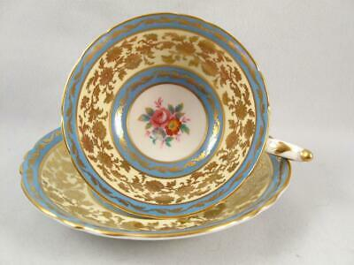 Paragon Fine China Bone Tea Cup & Saucer W/ Gilded Floral Rose