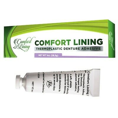 Comfort Lining - Soft Pliable Thermoplastic to Secure Dentures (1oz/28g tube)