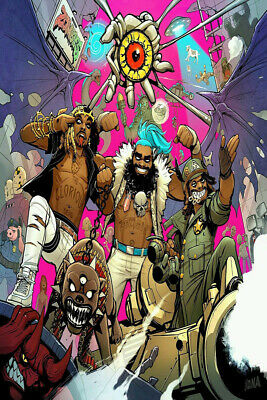 Hot Flatbush Zombies Rap Hip Hop Group Music New Art Poster 12x18 24x36 T-2534