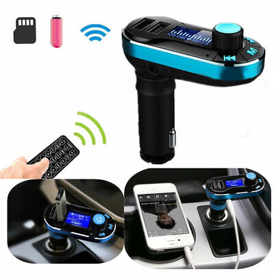 Car Kit Dual USB Charger FM Transmitter AUX Port Wireless Bluetooth MP3 Player