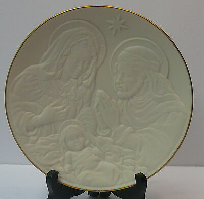 LENOX COLLECTOR PLATE >THE HOLY FAMILY >NATIVITY VIGNETTES 3 dimensional      Q