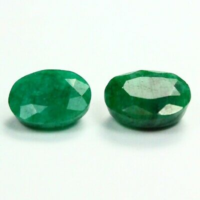 16.85 ct Set of Faceted Natural Emerald Gemstones - Exact Lot Shown 9837