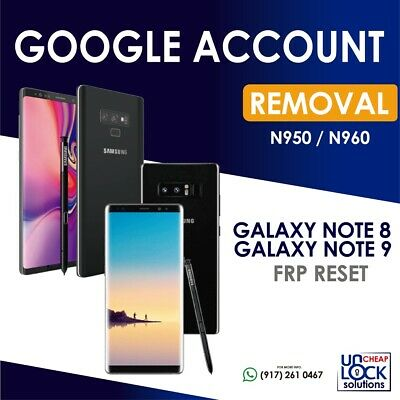 SAMSUNG ACCOUNT GOOGLE FRP Lock Remove Galaxy S7 s8 note 8