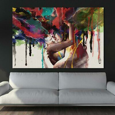 Abstract Colorful Wall Art Living Room Bedroom Home Decor Frameless Painting