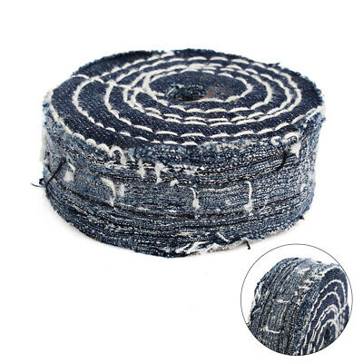 "80mm Denim Buffing Wheel Polishing Hard Cloth Wheel 1/2""Arbor Cowboy Cloth Pads"