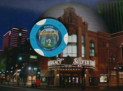 Silver Legacy Hotel Casino - $2 Poker Gaming Chip - Reno Nevada