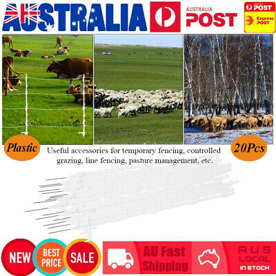 Electric Fence Posts Tread In Posts 20Pcs Multi Wire Tape Electric Fence Post