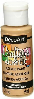 DecoArt DCA.60 Crafters Acrylic Paint 2oz Soft Suede