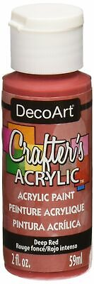 DecoArt DCA.21 Crafters Acrylic Paint 2oz Deep Red