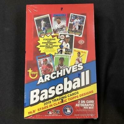 2019 Topps Archives Baseball Hobby Box 24 Packs 8 Cards per Pack FACTORY SEALED