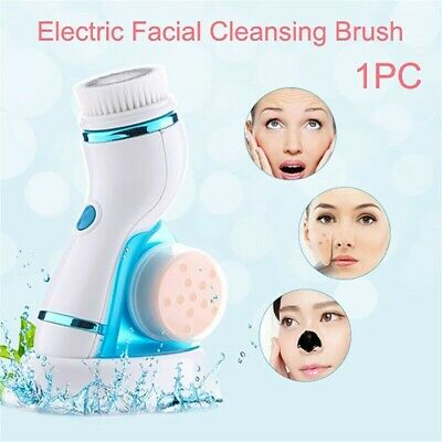 8in1 ELECTRIC 3D FACIAL FACE SPA CLEANSING BRUSH BEAUTY CLEANSER EXFOLIATE