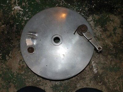 """BSA 8"""" brake plate and shoes..in very good condition,goldstar?...FREE UK POST"""