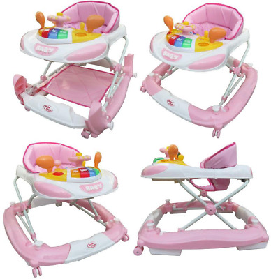Bebe Style F1 Racing Car Walker and Rocker (Deluxe, Pink)