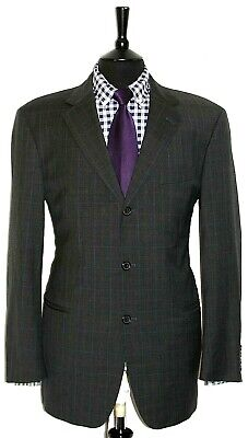 Luxury Mens Hugo Boss Tailor Made Check Suit 42R W36 X  L32