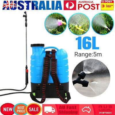 16L Electric Weed Sprayer 12V Rechargeable Backpack Farm Garden Pump Spray 5m
