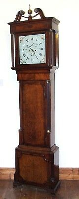 # Antique Oak & Mahogany Inlaid Grandfather Longcase Clock T RICHARDSON WEVERHAM