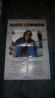 John Lennon Uk Promo Poster John Lennon Collection Beatles 1982