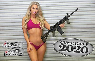2020 GUNS AND GIRLS DELUXE WALL CALENDAR pin up babes glock 9mm