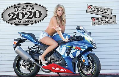 2020 Sportbike Hotties Deluxe Wall Calendar Motorcycle Dream Girls